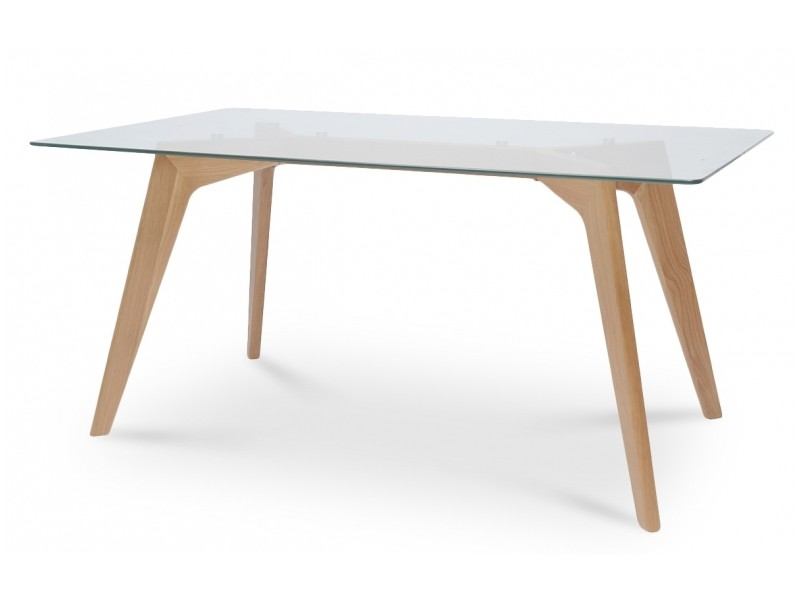 Table  Manger Scandinave Plateau Verre  Vente De Table  Conforama