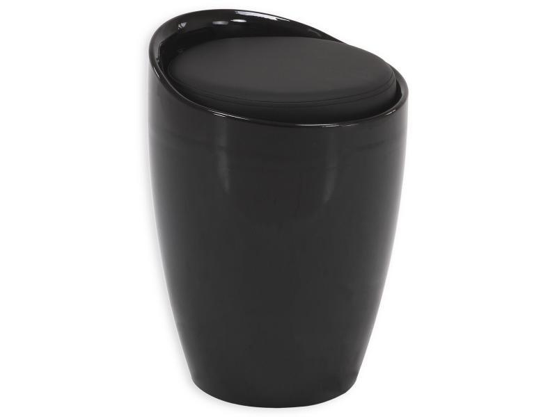 finest tabouret coffre rangement noir vente de chaise de cuisine conforama with poubelle cuisine. Black Bedroom Furniture Sets. Home Design Ideas