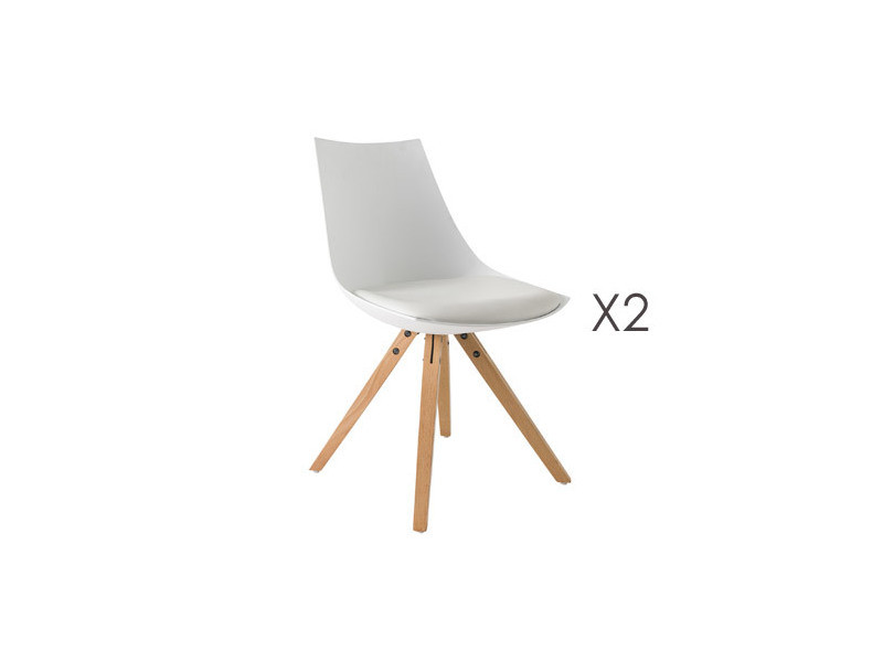 Lot De 2 Chaises Scandinave Blanche Conforama
