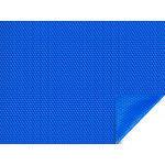 Bâche à bulles pour piscine Sao Paulo - 400 µ - bordée 1 côté - Bleu