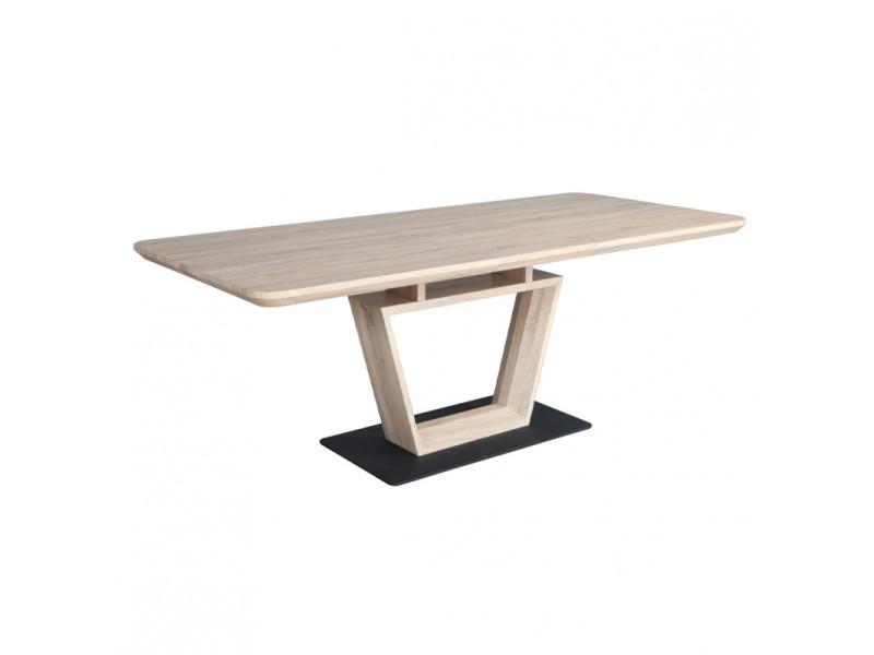 Table de repas extensible 160 à 200 cm rectangulaire - luccia