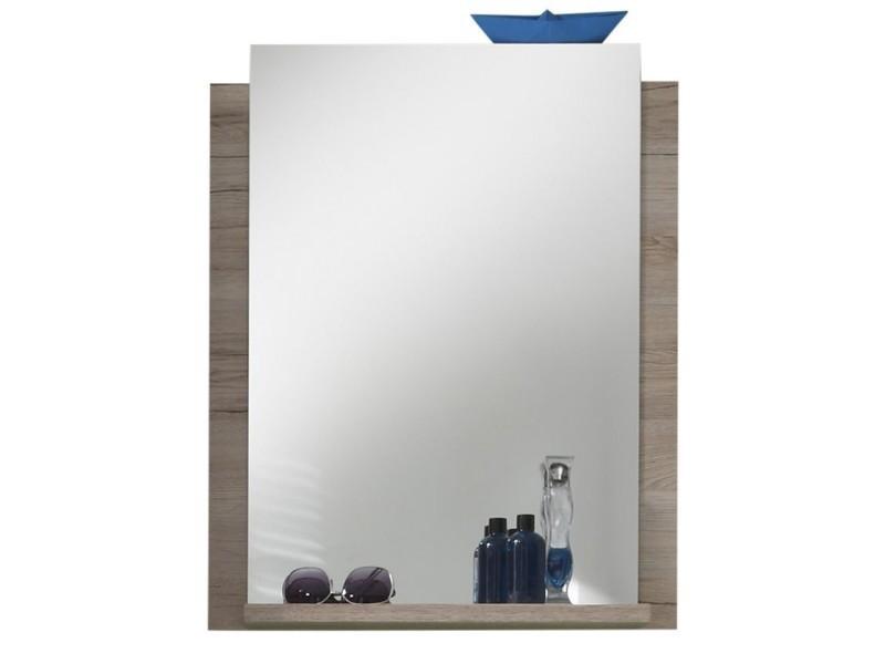 Miroir salle de bain coloris chêne sonoma - Vente de Miroir de ...