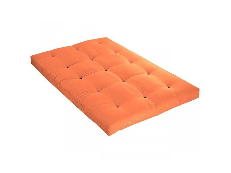 Futon De Goyave 140x190 Coton Orange En Matelas Vente Terre 0nkPwOXN8Z