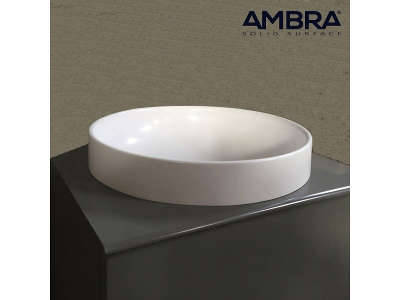 ambra Vasque Semi-encastr/ée en Solid Surface 40 cm Lucia