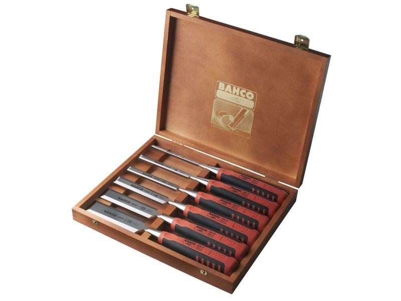 Bahco set de 6 ciseaux a bois avec coffret en bois 424p-s6-eur