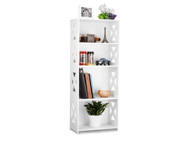 composite bois plastique etag re unit de stockage rangement livre sgs certifi blanc. Black Bedroom Furniture Sets. Home Design Ideas