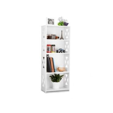 composite bois plastique etag re unit de stockage rangement livre sgs certifi blanc. Black Bedroom Furniture Sets. Home Design Ideas