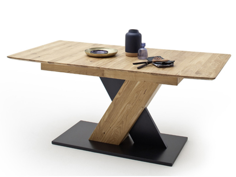 Table à manger extensible en chêne sauvage - l.140-185 x h.77 x p.90 cm -pegane- PEGANE
