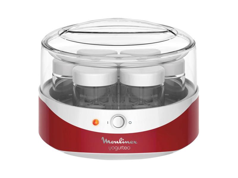 Moulinex yg229510 yogurteo yaourtiere 7 pots - rouge et blanc MOUYG229510