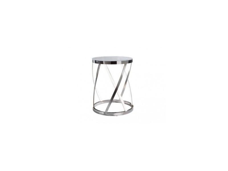 Table d'appoint ronde leds aluminium rumpu