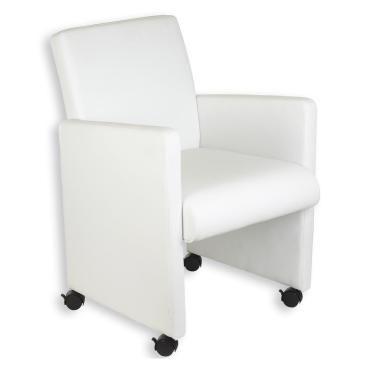 fauteuil sur roulettes antonia blanc vente de tous les fauteuils conforama. Black Bedroom Furniture Sets. Home Design Ideas
