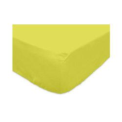 Drap housse 140x200cm 100% coton vert