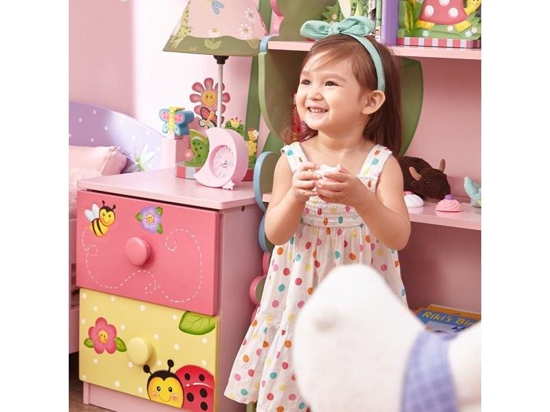 Table de chevet meuble commode en bois tiroir chambre enfant b/éb/é fille TD-0101A