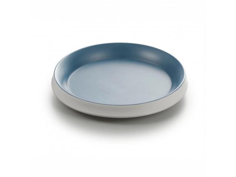 Assiette mélamine ronde bleue ø 19,5 cm - pujadas - 19,5 cm mélamine