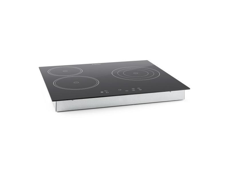 Klarstein virtuosa plaque de cuisson encastrable 3 zones - 5300w - vitrocéramique & verre