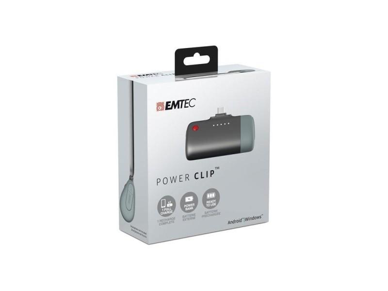 Chargeur power bank power clip u400 emtec pour android/windows