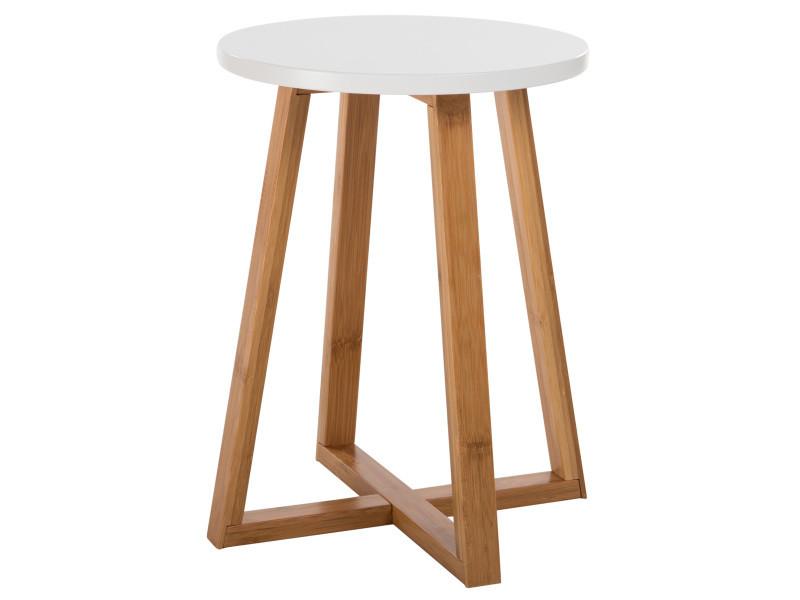 Table d 39 appoint ronde skandi vente de table basse - Table basse ronde conforama ...