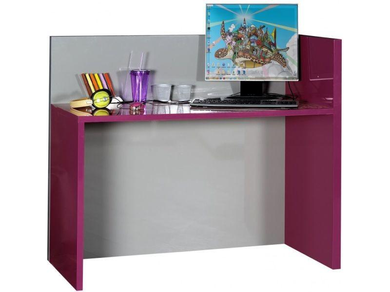 Bureau pour enfant design coloris fuchsia et gris vente de