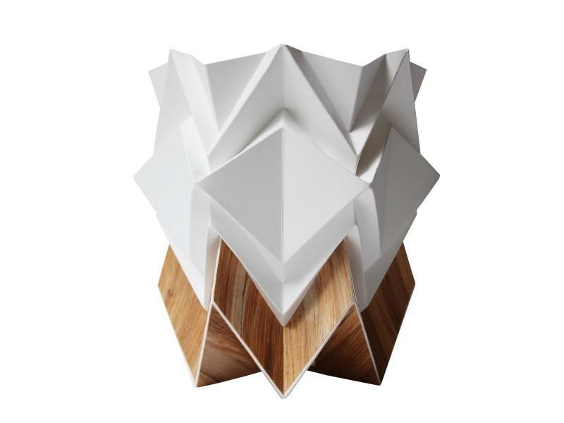 papier cache Cache pot origami design en papier et tronc de bananier recyclé