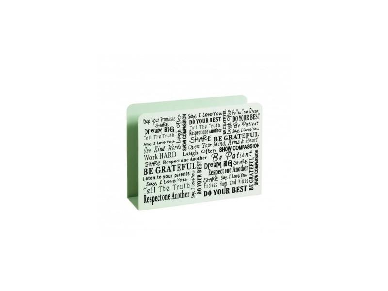 Porte revues en métal laqué blanc - 35 x 10 x 26 cm
