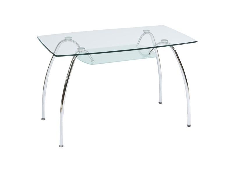 Table en verre design - 6 personnes - arachné i - 120 x 70 x 74 cm
