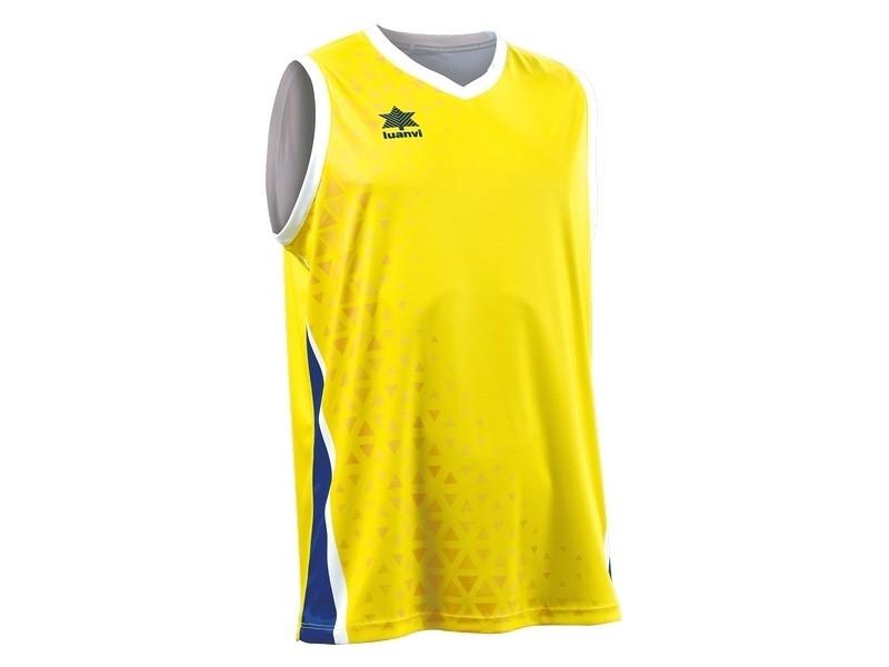 T-shirt de sport stylé taille 4xl débardeur luanvi cardiff jaune