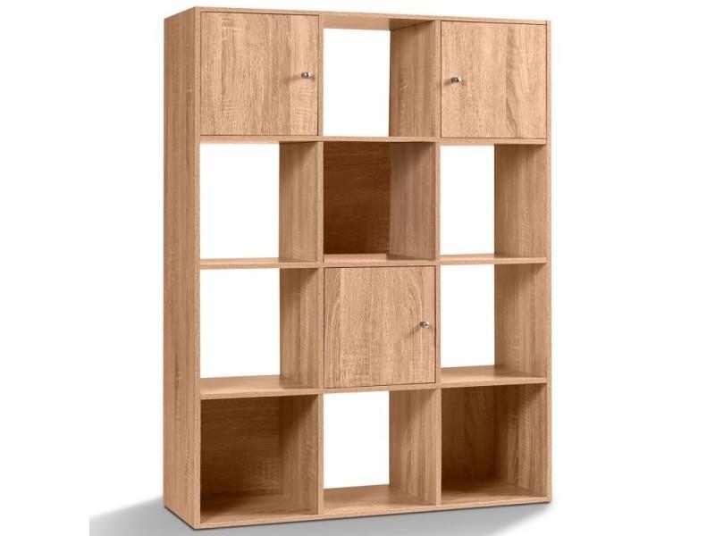 Meuble De Rangement 12 Cases.Meuble De Rangement Cube 12 Cases Bois Facon Hetre Avec 3