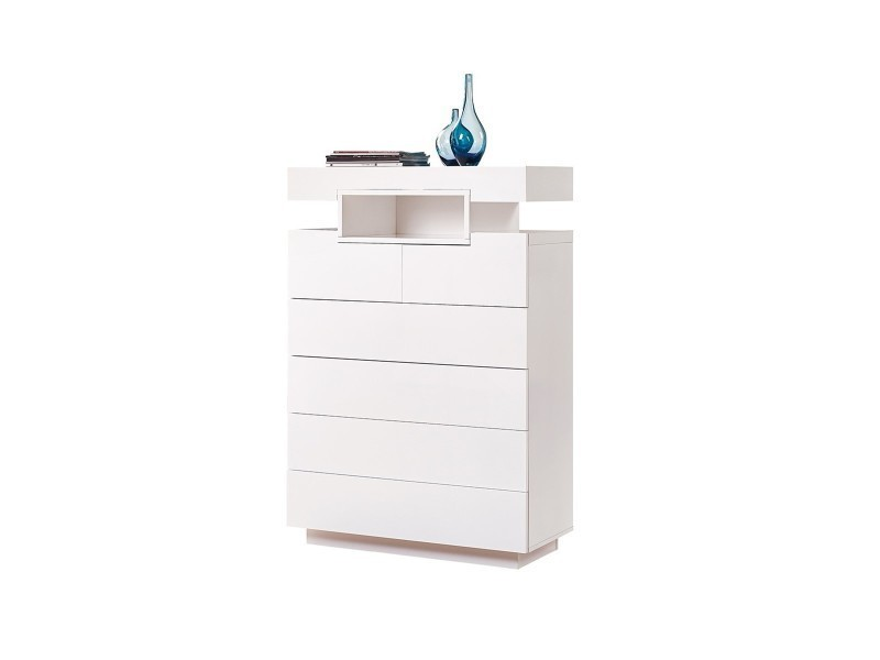 Conforama commode blanche cheap commode uunobeluu tiroirs for Chambre westley conforama