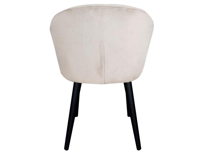Chaise fauteuil honorine velours beige Vente de MENZZO