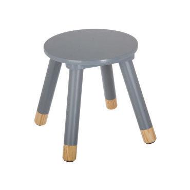 tabouret douceur gris pour enfant en bois vente de atmosphera conforama. Black Bedroom Furniture Sets. Home Design Ideas