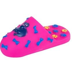 Jouet pour chien - chausson sonore - rose