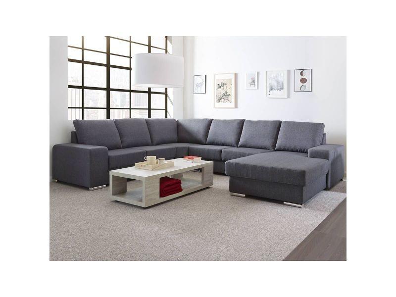 Bale - canapé d'angle gauche tissu gris