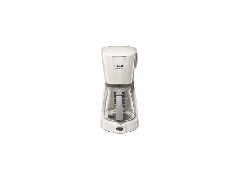 Cafetière, blanc, 1100 wmax, 1,25l, système anti-gouttes, verseuse en v
