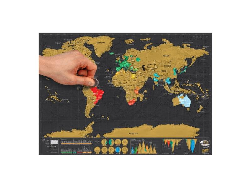 Conforama Carte Monde.Carte A Gratter Scratch Map Deluxe Format Voyage Vente De