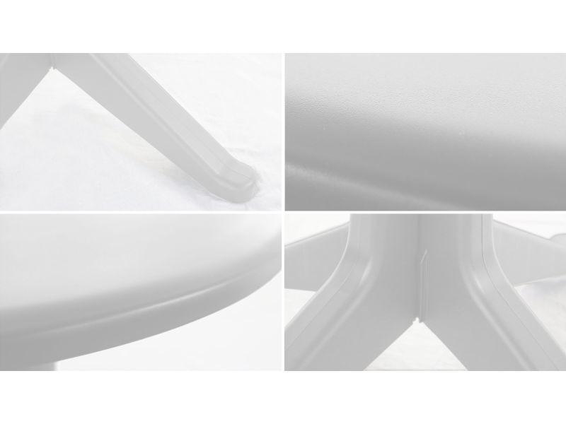 Table de jardin ronde en plastique - Vente de Table - Conforama