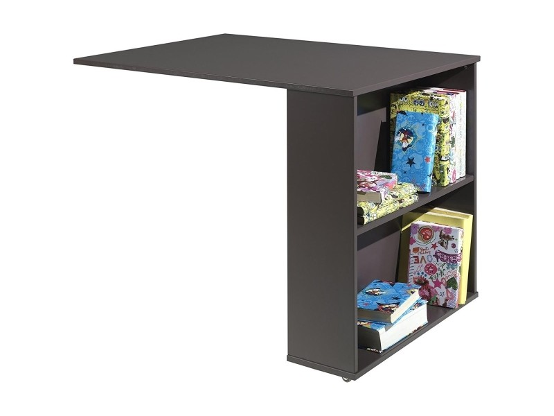 Vipack pino bureau pour lit mezzanine mdf taupe 94 x 68 x - Bureau pour lit mezzanine ...