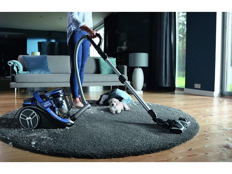 Aspirateur sans sac cyclonic de 2,5l 550w bleu noir