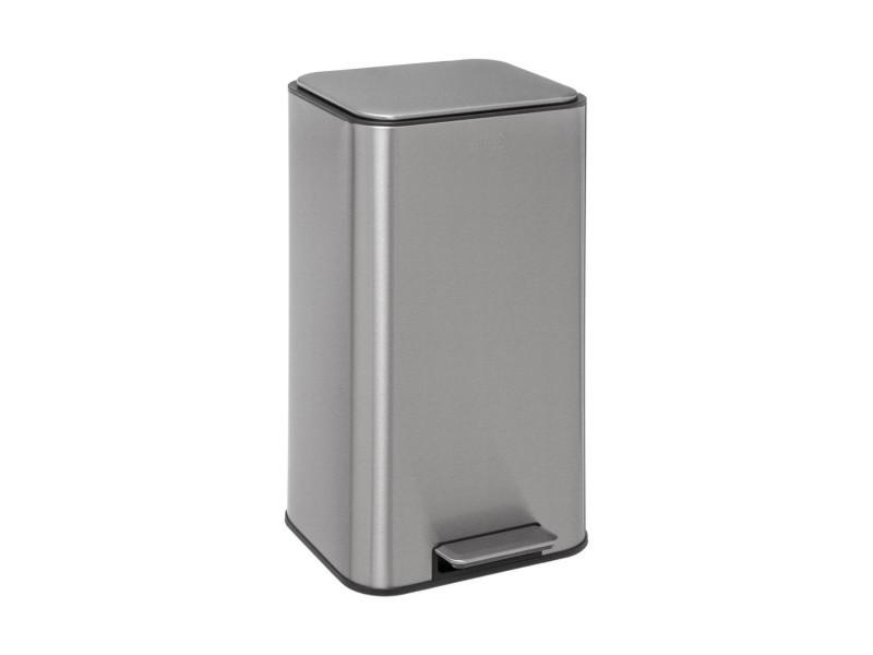 Five - poubelle 30 litres safir en métal inox ouverture à pédale