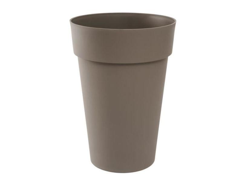 Jardiniere - bac a fleur eda vase toscane haut - ø 46 x h 65 cm - 67 l - taupe