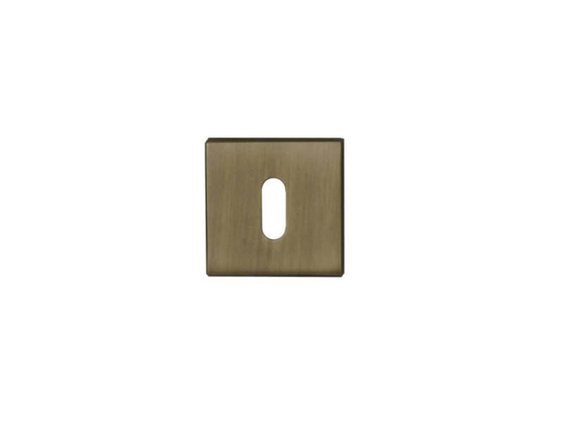 Rosaces carrés à clé - finition bronze x2 R2002BRO