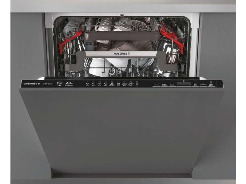 Lave-vaisselle encastrable rosières 16 couverts 59.8cm, rdin 2 d 622 pb 47