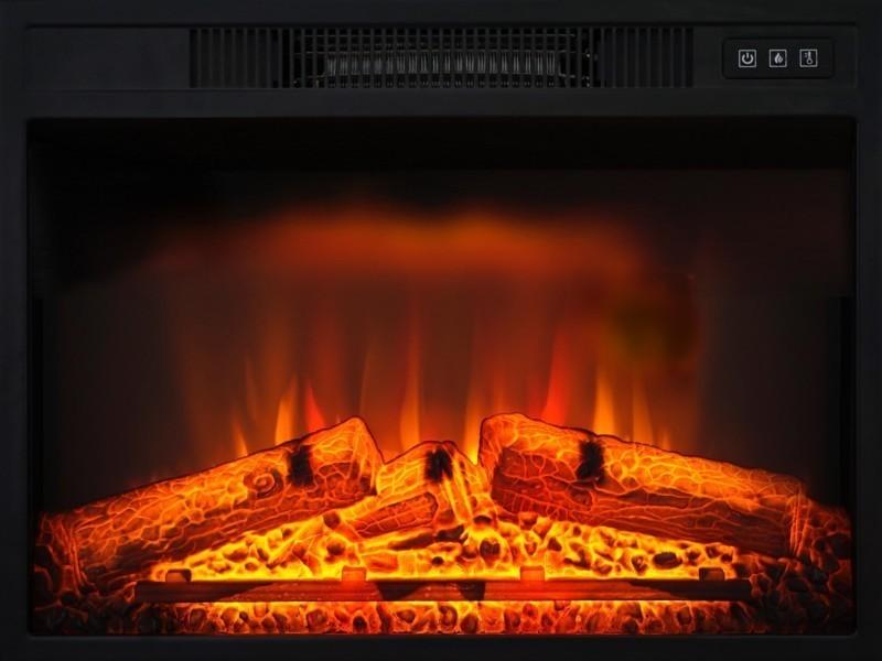 61 x 25 x 45 cm 2000 W CheminArte 118 Oxford Insert /électrique chemin/ée Noir
