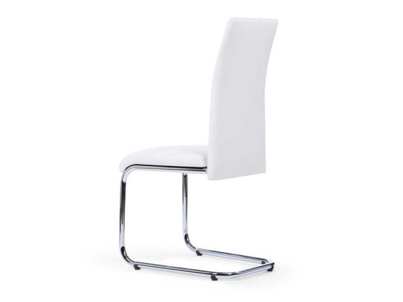 Lot de 4 chaises mia blanches pour salle à manger Vente de
