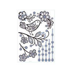Sticker relief - 30 x 40 cm - oiseau