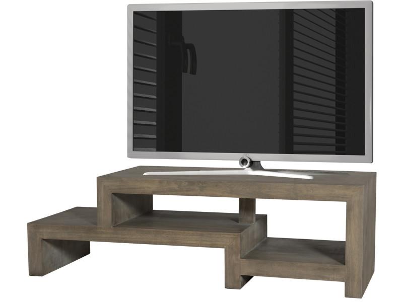 Meuble Tv En Decale En Bois Massif Hevea 130cm P 39525 Co C Bruno