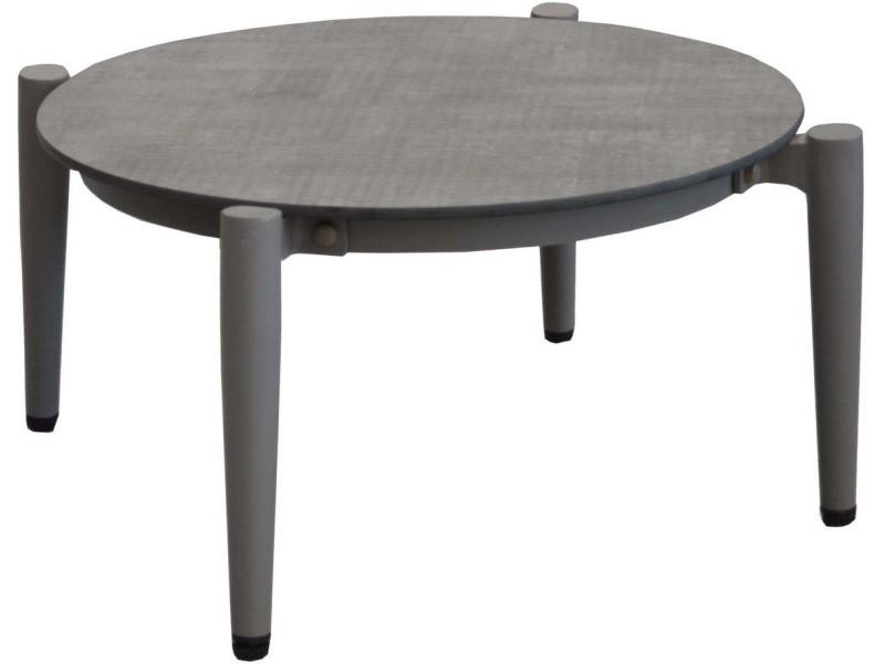 Table basse jardin rétro en aluminium 54 cm dublin taupe et luna