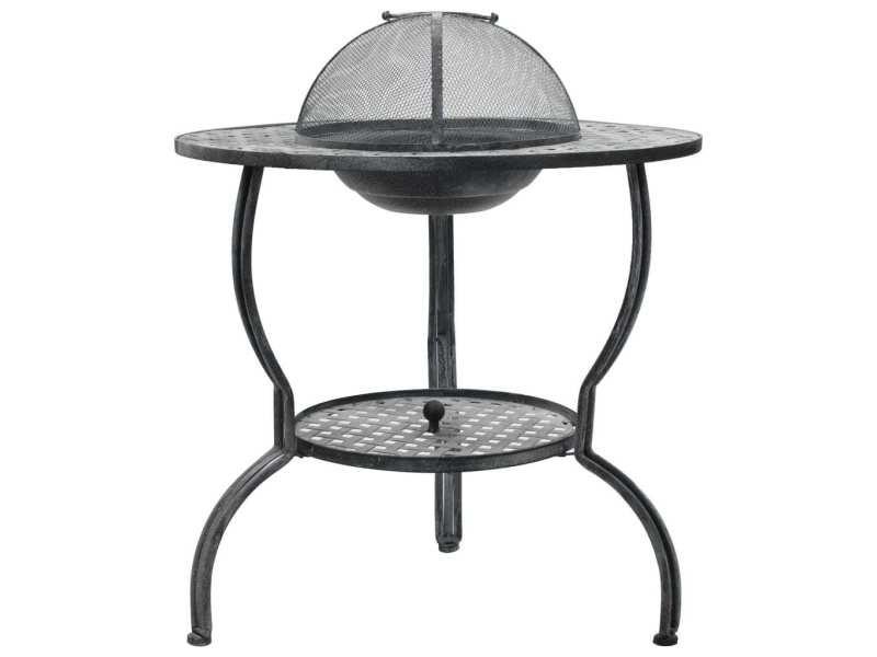 Inedit électroménager de cuisine gamme san josé barbecue au charbon de bois gris antique 70 x 67 cm