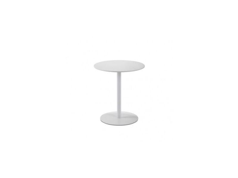 Table d'appoint guéridon blanc laqué pure