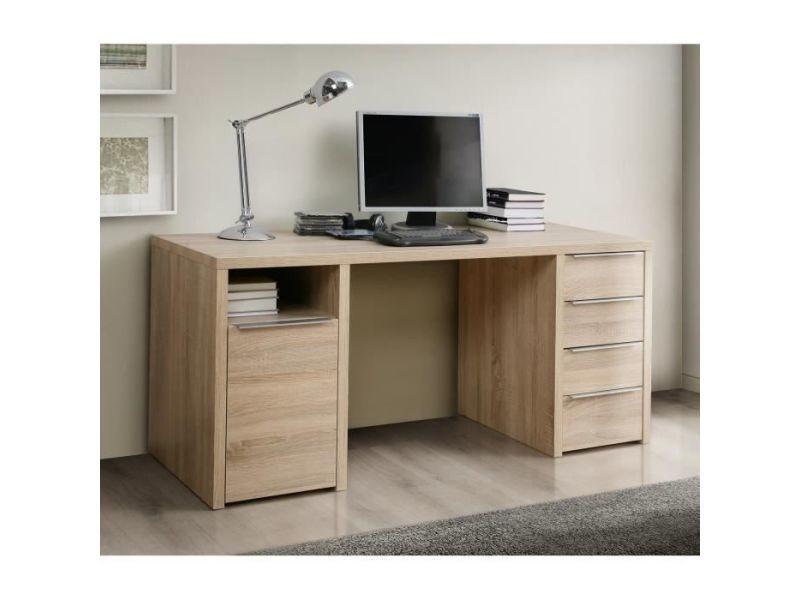 Calpe bureau chene sonoma - l 160 cm CLPB25D30