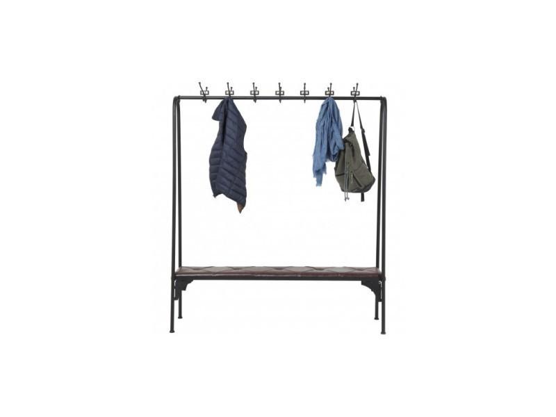 Banc Style Industriel Avec Porte Manteau Gym Vente De Chaise De
